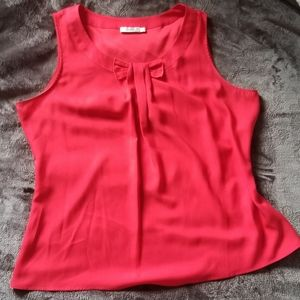 NWOT Ricki's Cherry Red Blouse With A Bow